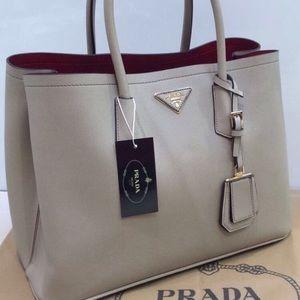 Prada Saffiano acudir Double Handbag